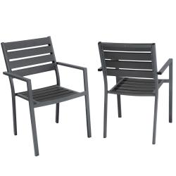 Christopher Knight Home Lanai Grey Poly Wood Outdoor Chairs (Set of 2)