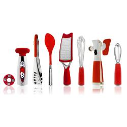 Art and Cook Red 8-piece Kitchen Tool Set