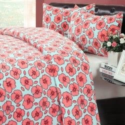 Blossom Microplush Blanket and 2-piece Sham Set