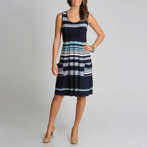 Lennie for Nina Leonard Women's Striped Dress