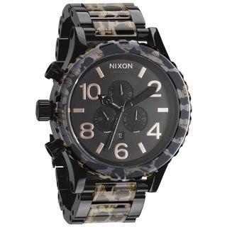 Nixon Men's 51-30 Chrono Black and Leopard Pattern Watch