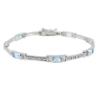 Glitzy Rocks Diamond Accent and Gemstone Bracelet