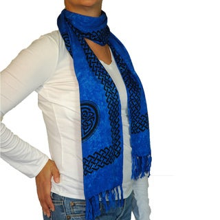 Blue Celtic Knot Scarf (Indonesia)