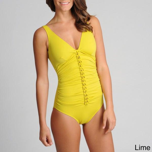 Spiegel Women's One-piece Braided Front Swimsuit
