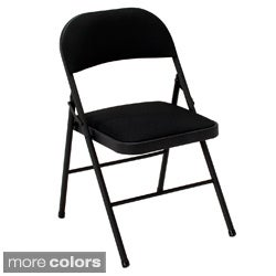 Cosco Fabric Seat Folding Chairs (Set of 4)