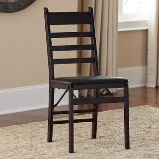 Cosco Wood Ladder Back Folding Chair (Set of 2)