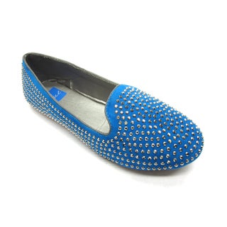 Blue Women's Heff Stud-S Turquoise Flats