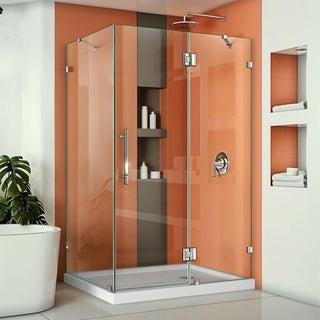 DreamLine QuatraLux 34-5/16 x46-5/16 Frameless Hinged Shower Enclosure