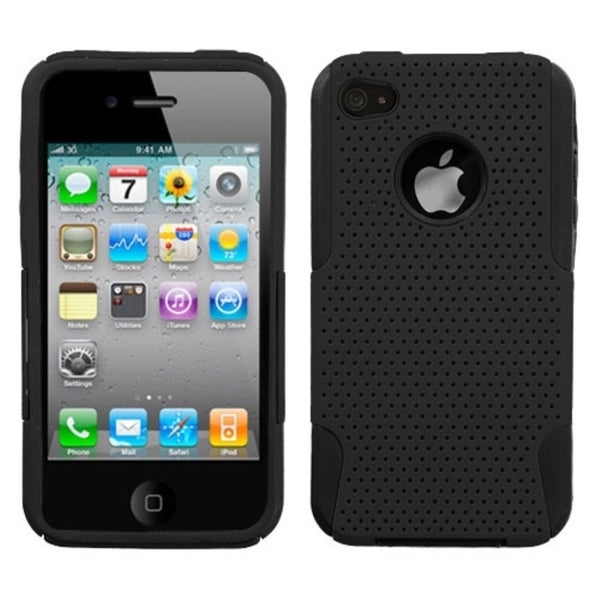 INSTEN Black Astronoot Phone Case Cover for Apple iPhone 4S/ 4