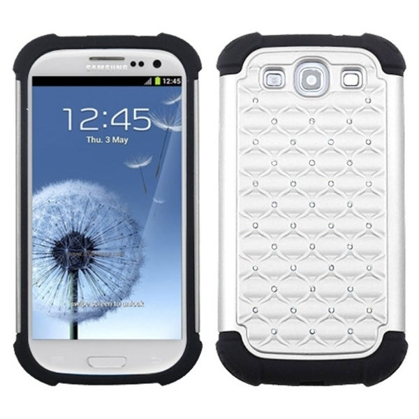 INSTEN White/ Black Total Defense Phone Case Cover for Samsung Galaxy S III/ S3