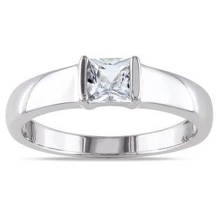 M by Miadora Men's Sterling Silver White Sapphire Ring