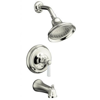 Kohler Bancroft Rite-Temp Polished Nickel Bath and Shower Faucet Trim