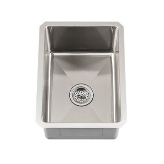Schon Undermount 16 Gauge Stainless Steel Radius Corner Single Bowl Bar Sink