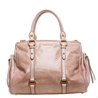 Miu Miu 'Vitello Lux' Pale Blush Leather Satchel