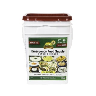 Emergency Food Supply Lunch & Dinner Pail (4 Gallons)