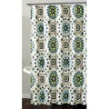 'Cynthia' Floral Swirl Shower Curtain