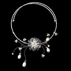 Pearl 'Iridescent Bloom' Quartz Necklace (3-8 mm) (Thailand)