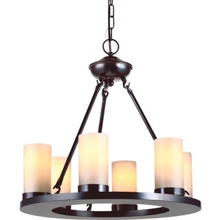 Sea Gull Lighting Ellington 6-light Burnt Sienna Single-tier Chandelier