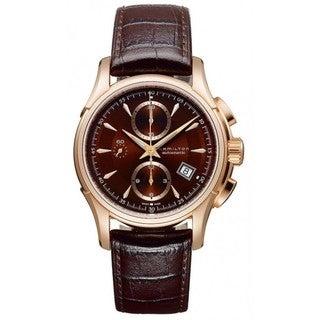 Hamilton Men's 'Jazzmaster Auto Chrono' Brown Dial Watch