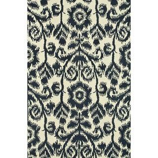 Hand-Tufted Meadow Navy Wool Rug (7'10 x 11'0)