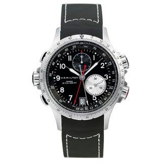 Hamilton Men's 'Khaki ETO' Black Dial Chronograph Watch