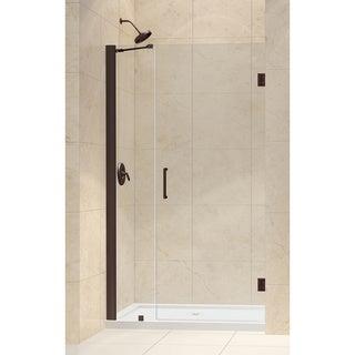 DreamLine Oil Rubbed Bronze Unidoor 38-39-inch Frameless Hinged Shower Door