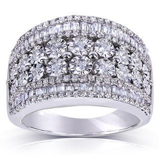 Annello Sterling Silver 1 1/4ct TDW Diamond Ring (H-I, I1-I2)