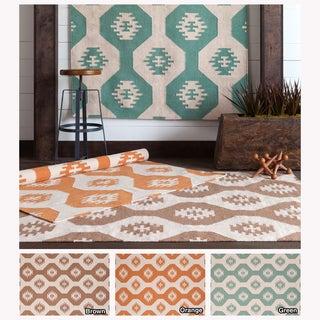 Mandara Contemporary Handmade Abstract Pattern Flatweave Rug (7' x 10')