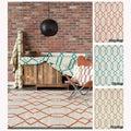 Mandara Handmade Geometric Pattern Contemporary Flat Weave Rug (7' x 10')