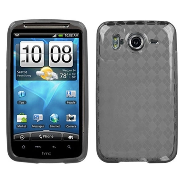 INSTEN Smoke Argyle Pane Candy Skin Phone Case Cover for HTC Inspire 4G