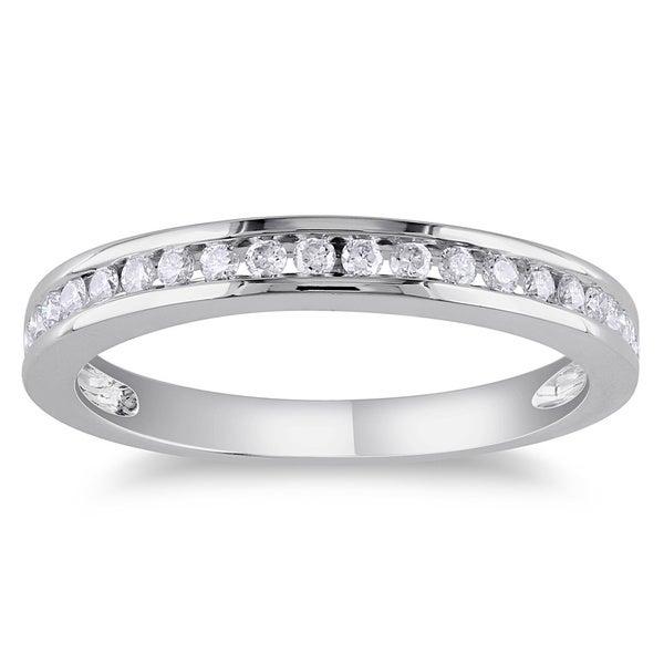 Miadora 14k Gold 1/4ct TDW Diamond Wedding Band (G-H, I1-I2)