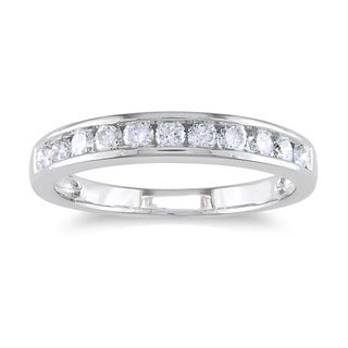 Miadora 14k Gold 1/2ct TDW Certified Diamond Channel Wedding Band (G-H, I1-I2)