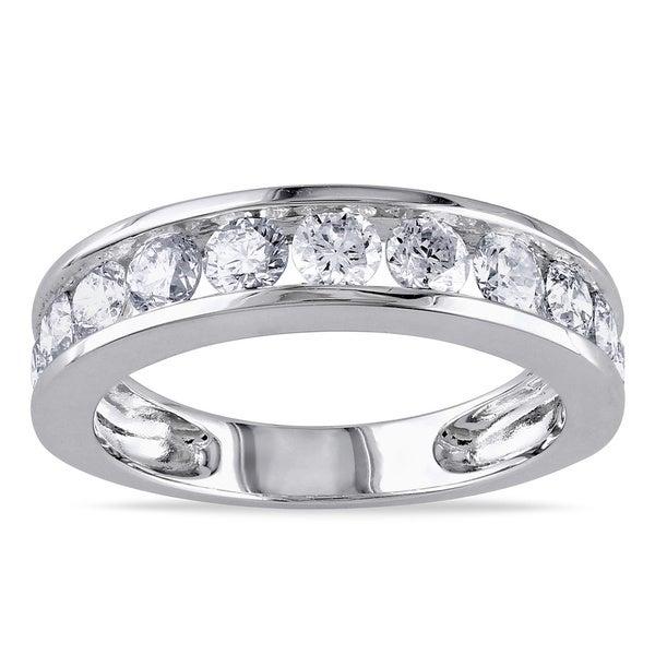 Miadora 14k Gold 1 1/2ct TDW Certified Diamond Wedding Band (G-H, I1-I2)