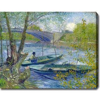 Vincent Van Gogh 'Fishing in the Spring, Pont de Clichy' Oil on Canvas Art