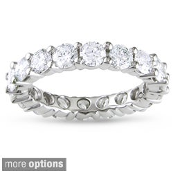 Miadora 14k Gold 3ct TDW Certified Diamond Eternity Wedding Band (G-H, I1-I2)