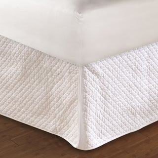 Greenland Home Fashions Diamond Quilted White Bedskirt