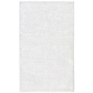 Handmade Posh White Shag Rug (8' x 10')