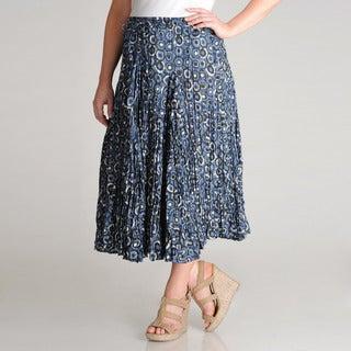 Grace Elements Women's Plus Pebble Printed Cotton Skirt
