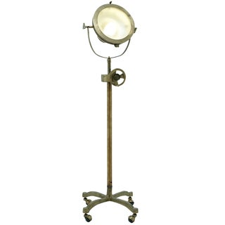 Handcrafted Hollywood Studio 57-inch Mobile Director's Spot Light Antique Brass Floor Lamp