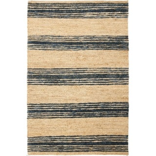 Safavieh Hand-knotted Bohemian Natural/ Blue Wool Rug (9' x 12')