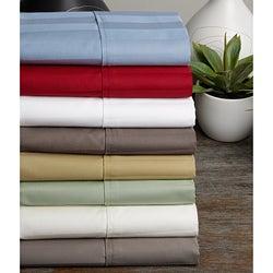 Egyptian Cotton Wrinkle Resistant 500 Thread Count Damask Stripe Sheet Set