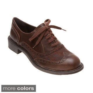 Vintage shoes Lace Up SADDLE OXFORDS / Two Tone womens vintage