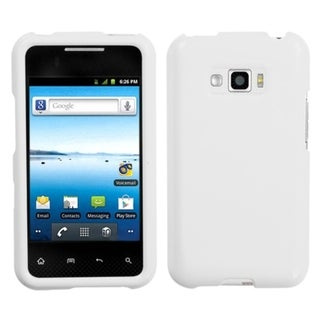 INSTEN Solid Ivory Phone Case Cover for LG Optimus Elite LS696 / VM696