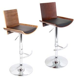 Vittorio Mid-Century Modern Wood Adjustable Barstool