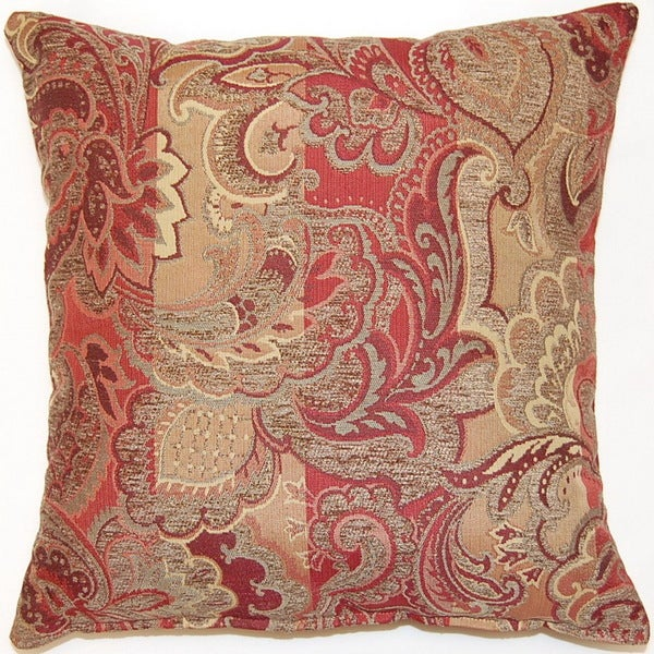 Overstock Decorative Throw Pillows : Cambridge Crimson 17-inch Throw Pillows (Set of 2) - Overstock Shopping - Great Deals on Throw ...