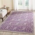 Safavieh Handmade Moroccan Cambridge Purple/ Ivory Wool Rug (10' x 14')