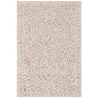 "Safavieh Cambridge Handmade Geometric Light-Pink/Ivory Wool Rug (2'6"" x 4')"