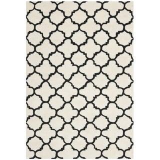 Safavieh Handmade Moroccan Chatham Ivory/ Black Wool Rug (8'9 x 12')