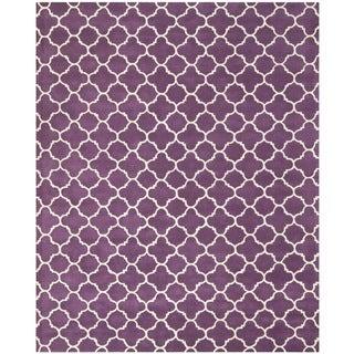 Safavieh Handmade Moroccan Chatham Purple/ Ivory Wool Rug (8'9 x 12')