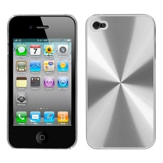 INSTEN Silver Cosmo Back Phone Case Cover for Apple iPhone 4S/ 4